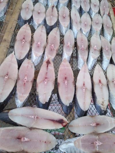 Cá thu nhập khẩu cắt khúc