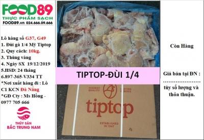 Đùi gà Tip Top 1/4, kiện 10kg